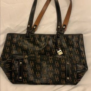 Medium Black Dooney & Bourke Shoulder Bag